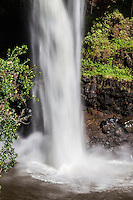 The base of Rainbow Falls waterfall, Hilo, Big Island.
