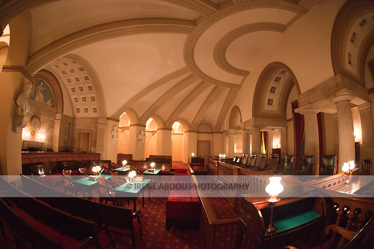 This room in the U.S. Capitol - the Old Supreme Court Chamber - housed the U.S. Supreme Court until 1935.