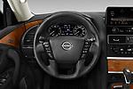 Car pictures of steering wheel view of a 2021 Nissan Armada SL 5 Door SUV Steering Wheel