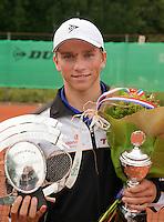 8-8-09, Asten,NJK, Tennis, Alban Meuffels winnaar jongens 18 jaar