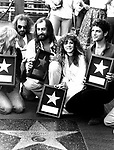 Fleetwood Mac 1979 Christine McVie, John McVie, Mick Fleetwood, Stevie Nicks and Lindsey Buckingham receive star on Hollywood Walk Of Fame..© Chris Walter.