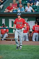 Bren Spillane (43) of the Billings Mustangs comes to bat against the Ogden Raptors at Lindquist Field on August 18, 2018 in Ogden, Utah. Billings defeated Ogden 6-4. (Stephen Smith/Four Seam Images)