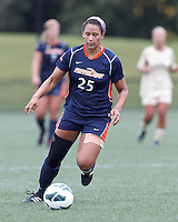 Pepperdine University forward Lynn Williams (25) brings the ball forward. Pepperdine University defeated Boston College,1-0, at Soldiers Field Soccer Stadium, on September 29, 2012.