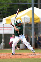 Farmingdale State Rams John Spirito during a game against the U-Mass Boston Beacons at North Charlotte Regional Park on March 19, 2015 in Port Charlotte, Florida.  U-Mass Boston defeated Farmingdale 9-5.  (Mike Janes/Four Seam Images)