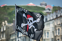 Aberystwyth ,Ceredigion, West Wales Sunday 29th May 2016 UK Weather. Aberystwyth Raft Race 2016. People come out to enjoy the glorious summer sun to watch and take part in the annual raft race .