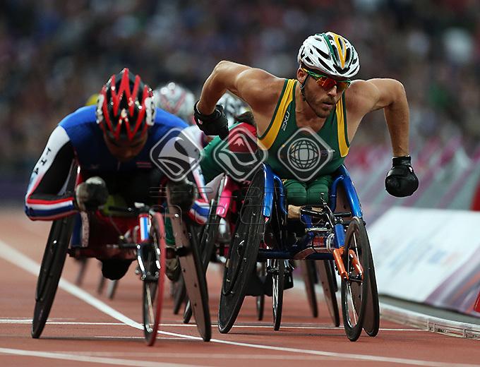 Kurt Fearnley, (AUS), Men's 5000m - T54 race..<br /> Athletics, Olympic Stadium, Olympic Park (Friday 31st Aug)<br /> Paralympics - Summer / London 2012<br /> London England 29 Aug - 9 Sept <br /> © Sport the library/Joseph Johnson