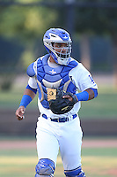 Hendrik Clementina (54) of the AZL Dodgers in the field during a game against the AZL Diamondbacks at the Los Angeles Dodgers Spring Training Complex on July 3, 2015 in Glendale, Arizona. Diamondbacks defeated the Dodgers, 5-1. (Larry Goren/Four Seam Images)