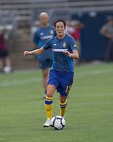 Sweden midfielder Therese Sjogran (15). The US Women's national team beat Sweden, 3-0, at Rentschler Field on July 17, 2010.