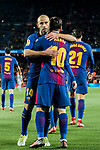 Lionel Andres Messi of FC Barcelona celebrates with teammate Javier Alejandro Mascherano during the Copa Del Rey 2017-18 Round of 16 (2nd leg) match between FC Barcelona and RC Celta de Vigo at Camp Nou on 11 January 2018 in Barcelona, Spain. Photo by Vicens Gimenez / Power Sport Images