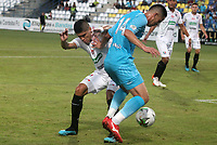 MONTERÍA - COLOMBIA ,05-10-2019: Acción de juego entre los equipos  Jaguares de Córdoba y Once Caldas durante partido por la fecha 15 de la Liga Águila II 2019 jugado en el estadio Municipal Jaraguay de Montería . /Action game between teams  Jaguares of Cordoba and Once Caldas during the match for the date 15 of the Liga Aguila II 2019 played at Municipal Jaraguay Satdium in Monteria City . Photo: VizzorImage / Contribuidor.