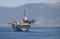 - the US amphibious assault helicopters carrier Inchon off the coast of Cape Teulada military polygon (Sardinia) ....- la portaelicotteri da assalto anfibio USA Inchon al largo del poligono militare di Capo Teulada (Sardegna)