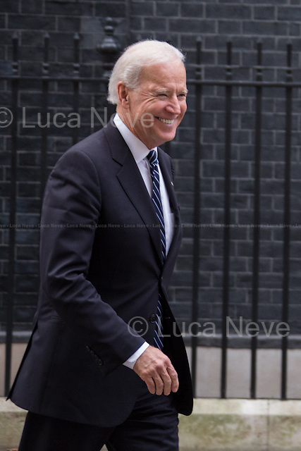Joe Biden (Vice President of the United States).<br /> <br /> London, 05/02/2013. Today, Joe Biden, Vice President of the United States, visited 10 Downing Street where he met with the British Prime Minister David Cameron and the Deputy Prime Minister Nick Clegg.