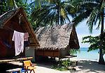 Thailand, island Ko Pha Ngan, Starhut bungalows at Thong Nai Pan Noi beach