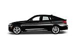 Car driver side profile view of a 2018 BMW 3 Series 330i GT M Sport 5 Door Hatchback