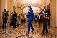 "Sen. Dianne Feinstein, D-CA, arrives for the second day of former President Donald Trump's impeachment trial at the U.S. Capitol, in Washington, DC on Wednesday, February 10, 2021. Impeachment managers will make the case that Trump was ""singularly responsible"" for the January 6th attack at the U.S. Capitol and he should be convicted and barred from ever holding public office again. <br /> CAP/MPI/RS<br /> ©RS/MPI/Capital Pictures"