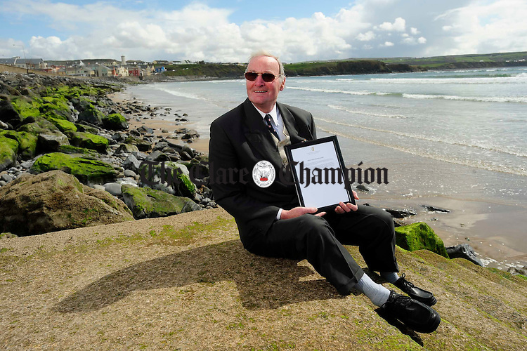 Tomsie O Sullivan at his beloved Lahinch. Photograph by John Kelly.