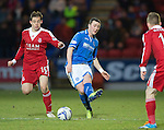 St Johnstone v Aberdeen.....07.12.13    SPFL<br /> Tam Scobbie and Peter Pawlett<br /> Picture by Graeme Hart.<br /> Copyright Perthshire Picture Agency<br /> Tel: 01738 623350  Mobile: 07990 594431