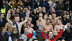 Albion Rovers fans at full time