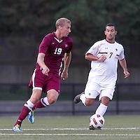 Harvard University midfielder Tim Schmoll (19) at midfield. Boston College defeated Harvard University, 2-0, at Newton Campus Field, October 11, 2011.