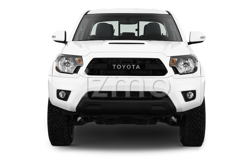 Car photography straight front view of a 2015 Toyota Tacoma TRD Pro 4 Door Pickup Front View