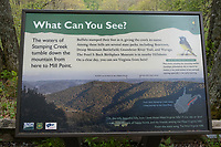 Cranberry Hill, West Virginia. Scenic View Explanatory Sign.