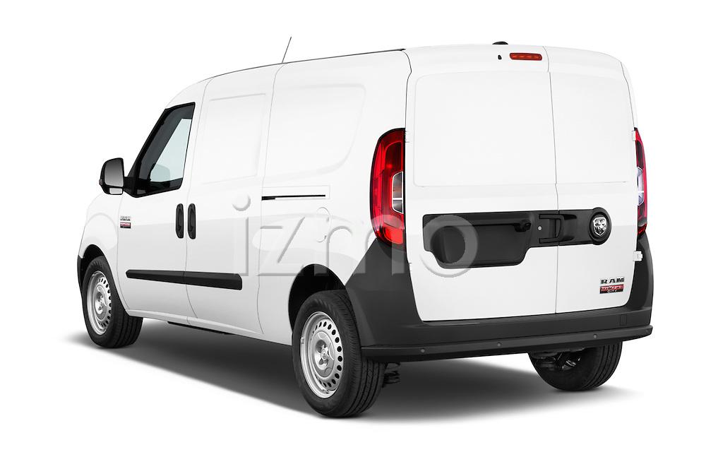Car pictures of rear three quarter view of a 2017 Ram Promaster City Trademans 4 Door Cargo Van angular rear