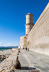 Fort Saint-Jean, built in 1660 by Louis XIV at the Old Vieux Port, Marseille, France