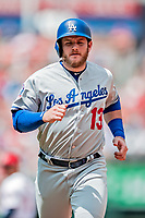 20 May 2018: Los Angeles Dodgers first baseman Max Muncy in action against the Washington Nationals at Nationals Park in Washington, DC. The Dodgers defeated the Nationals 7-2, sweeping their 3-game series. Mandatory Credit: Ed Wolfstein Photo *** RAW (NEF) Image File Available ***