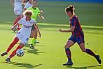 Liga IBERDROLA 2020-2021. Jornada: 12<br /> FC Barcelona vs Sevilla: 6-0.<br /> Zenatha Coleman vs Marta Torrejon.