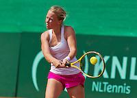 Netherlands, Rotterdam August 05, 2015, Tennis,  National Junior Championships, NJK, TV Victoria, Ieke van Vught<br /> Photo: Tennisimages/Henk Koster