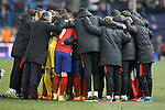 Atletico de Madrid's team after extra time during UEFA Champions League match. March 15,2016. (ALTERPHOTOS/Acero)