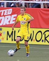 Brian Carroll in the 2-0  Real Salt Lake win at Rice Eccles Stadium  in Salt Lake City, Utah on  July 12, 2008.