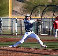 Aidan Hunter takes part in the 2020 Under Armour Pre-Season All-America Tournament at the Chicago Cubs training complex and Red Mountain baseball complex on January 18-19, 2020 in Mesa, Arizona (Bill Mitchell)