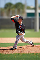 Miami Marlins Scott McGough (17) during a minor league Spring Training intrasquad game on March 31, 2016 at Roger Dean Sports Complex in Jupiter, Florida.  (Mike Janes/Four Seam Images)