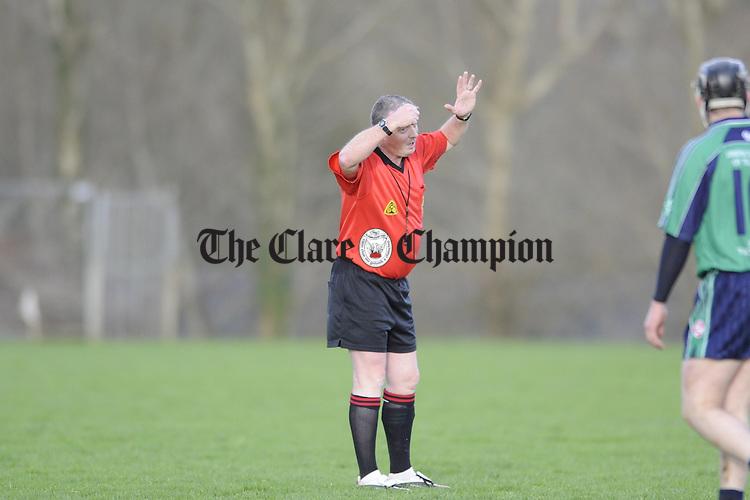 Clare v LIT hurling at Meelick.Pic Arthur Ellis. Referee Pat Casey,Waterford.Pic Arthur Ellis...Clare v LIT Meelick.