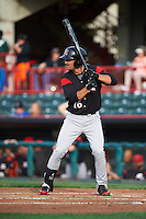 Richmond Flying Squirrels center fielder Myles Schroder (16) during a game against the Erie SeaWolves on May 27, 2016 at Jerry Uht Park in Erie, Pennsylvania.  Richmond defeated Erie 7-6.  (Mike Janes/Four Seam Images)