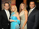 From left: John Palmer and Carolyn Farb with Gina and Dr. Devinder Bhatia at the San Jose Clinic Art with Heart Gala at the InterContinental Hotel Saturday May 15,2010.  (Dave Rossman Photo)