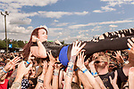 May 6, 2016. Concord, North Carolina. <br />  Hell Yeah Fans.<br />  The 2016 Carolina Rebellion was held over May 6-8 next to the Charlotte Motor Speedway and featured over 50 bands including headliners Lynyrd Skynyrd, The Scorpions, Five Finger Death Punch, Disturbed, and Rob Zombie.