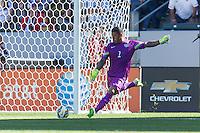 Carson, CA - Sunday, February 8, 2015: Goalkeeper Nick Rimando (1) of the USMNT. The USMNT defeated Panama 2-0 during an international friendly at the StubHub Center