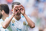 Lucas Vazquez Iglesias of Real Madrid celebrates after scoring his goal  during the La Liga match between Real Madrid and Levante UD at the Estadio Santiago Bernabeu on 09 September 2017 in Madrid, Spain. Photo by Diego Gonzalez / Power Sport Images