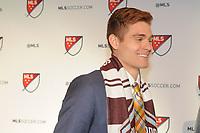 Philadelphia, PA - Thursday January 19, 2018: Alan Winn during the 2018 MLS SuperDraft at the Pennsylvania Convention Center.