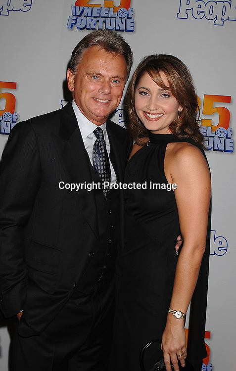 """Pat Sajak and wife Lesly..at The 25th Anniversary party for """"Wheel of Fortune"""" ..on September 27, 2007 at Radio City Music Hall, where they will tape 3  weeks of shows.....photo by Robin Platzer, Twin Images....212-935-0770"""
