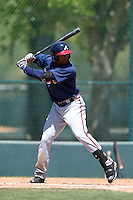 Atlanta Braves outfielder Blake Brown (11) during a minor league spring training game against the Washington Nationals on March 26, 2014 at Wide World of Sports in Orlando, Florida.  (Mike Janes/Four Seam Images)