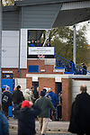 Curzon Ashton v Exeter City, 08/11/2008. FA Cup first round, Tameside Stadium. Fans queueing to get in to Curzon Ashton's Tameside Stadium, Ashton-under-Lyne before their FA Cup first round tie against Exeter City. The home team, who play in the Unibond first division north won the match 3-2 against their opponents from Coca Cola League 2, four divisions above Curzon Ashton. It was the home side's first-ever appearance in the FA Cup proper and their reward for winning the match was an away tie at Conference team Kidderminster Harriers. Photo by Colin McPherson.