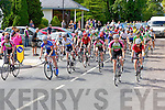Cyclists sprint off the starting line at the Cycling County Championships in Kilcummin on Saturday