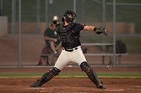 AZL Giants Black catcher Cody Brickhouse (6) during an Arizona League game against the AZL Athletics at the San Francisco Giants Training Complex on June 19, 2018 in Scottsdale, Arizona. AZL Athletics defeated AZL Giants Black 8-3. (Zachary Lucy/Four Seam Images)