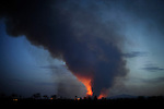 General view of the fire in El cubillo de Uceda during a forest fire near Guadalajara, on August 11, 2012. (c) Pedro ARMESTRE