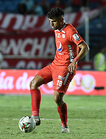 CALI - COLOMBIA, 29-02-2020: Rodrigo Ureña del América en acción durante partido por la fecha 7 de la Liga BetPlay DIMAYOR I 2020 entre América de Cali y Deportivo Cali jugado en el estadio Pascual Guerrero de la ciudad de Cali. / Rodrigo Ureña of America in action during match for the for the date 7 as part of BetPlay DIMAYOR League I 2020 between America de Cali and Deportivo Cali played at Pascual Guerrero stadium in Cali. Photo: VizzorImage / Gabriel Aponte / Staff