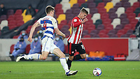Marcus Forss of Brentford races upfield during Brentford vs Queens Park Rangers, Sky Bet EFL Championship Football at the Brentford Community Stadium on 27th November 2020