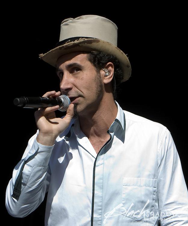Serj Tankian performing at the Big Day Out festival, Flemington Racecourse, Melbourne, 26 January 2009